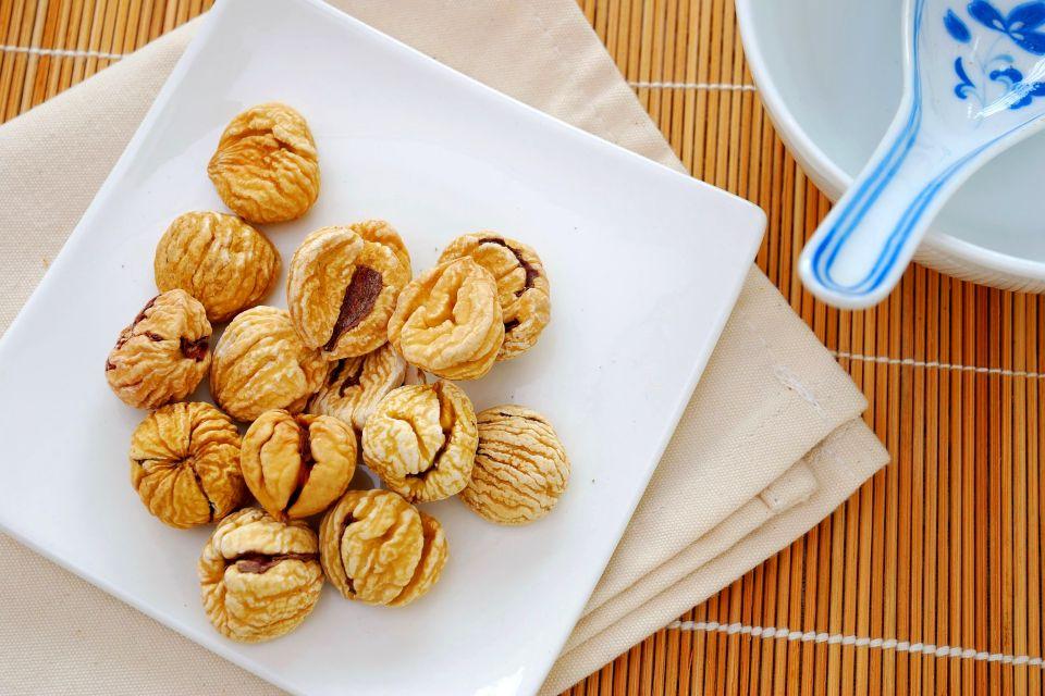 La châtaigne ardéchoise , Dried chestnuts , France