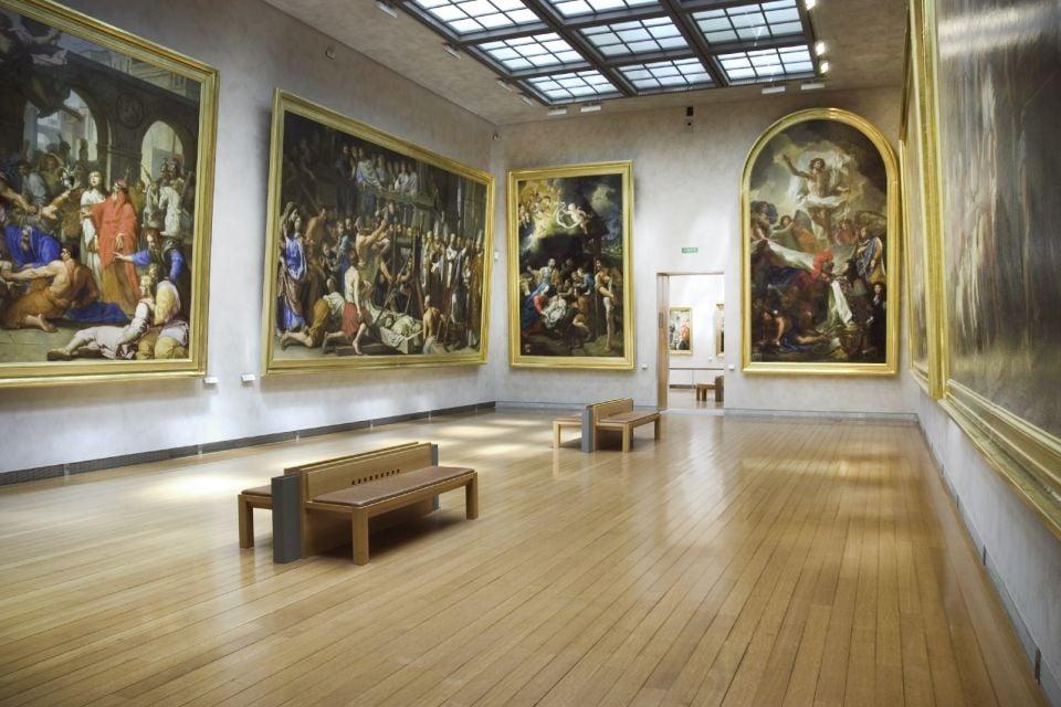 Musée des Beaux-Arts , La salle des peintures italiennes du musée , France