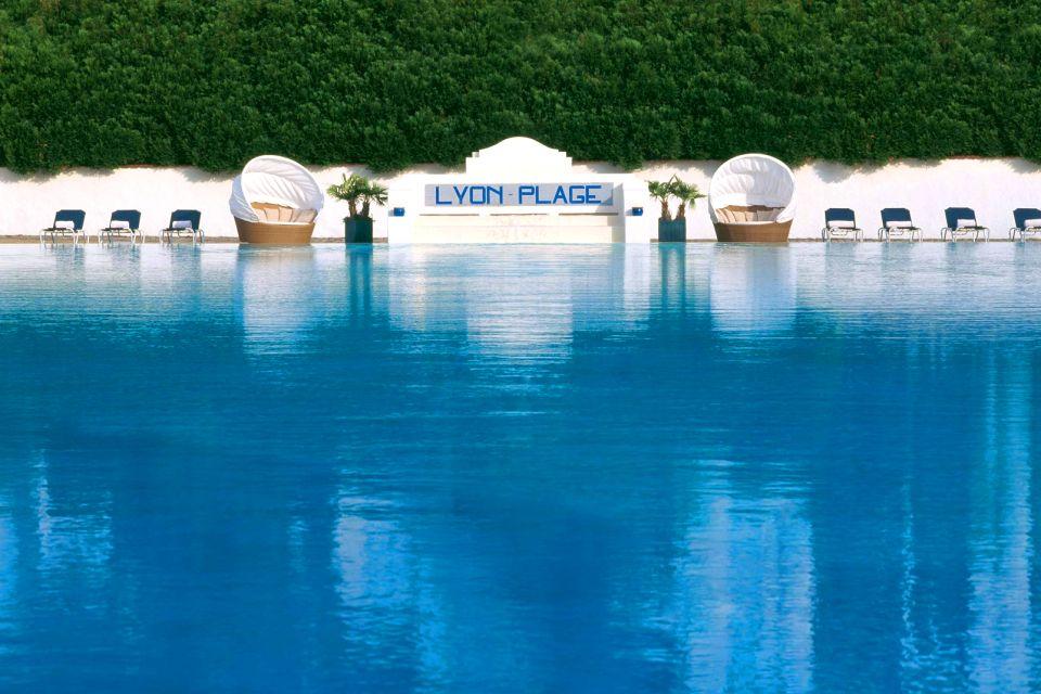 Swimming pools of Lyon , Lyon-Plage , France