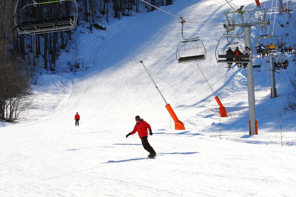 Das Gebirge , Wintersport in Rhône-Alpes , Frankreich