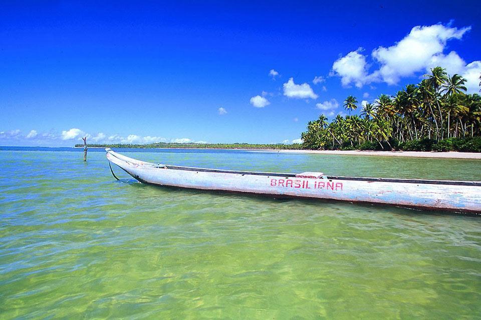 Boipeba , A pirogue boat , Brazil