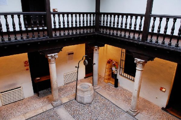 The house of Cervantès in Alcala de Hénrares , Spain