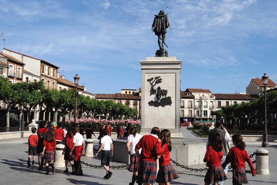 La casa de Cervantes en Alcala de Henares , España