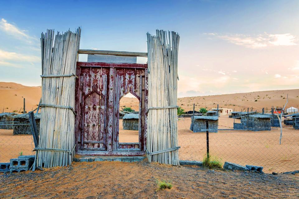 Die Wüste Wahiba Sands. , Das Hotel Desert Night Camp , Sultanat Oman