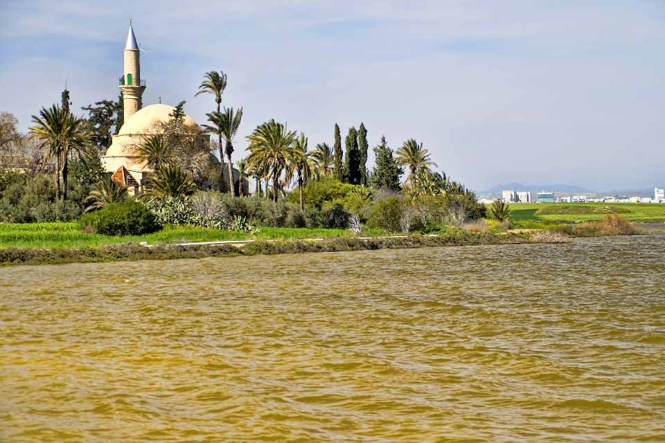 The mosque of Hala Sultan Tekke , The Hala Sultan Tekke complex , Cyprus
