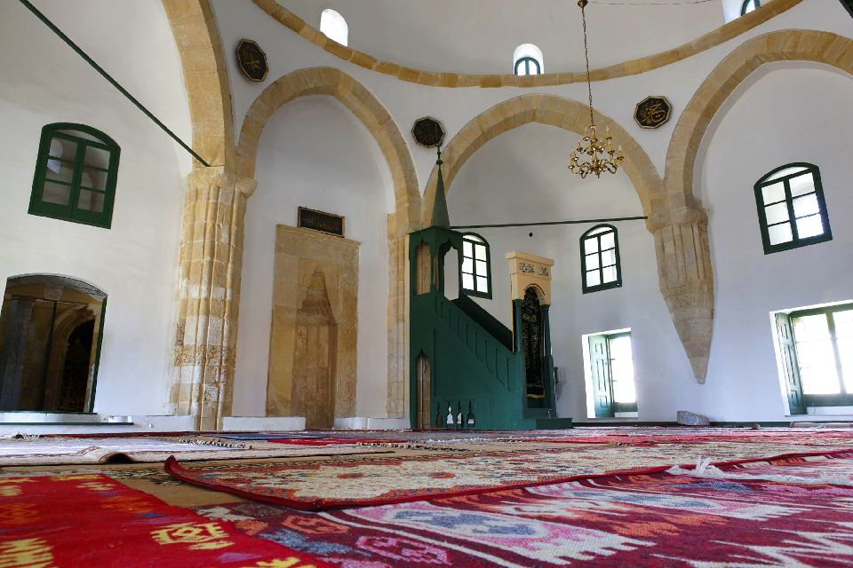 The mosque of Hala Sultan Tekke , The prayer room of Hala Sultan Tekke , Cyprus