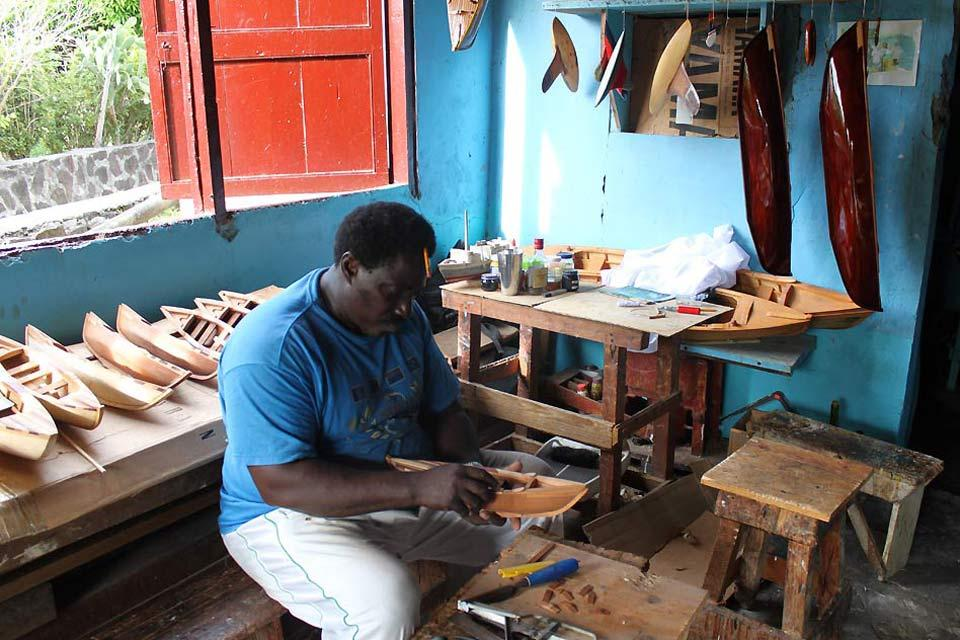 Admiralty Bay , Bequia's model boats , Saint-Vincent and The Grenadines