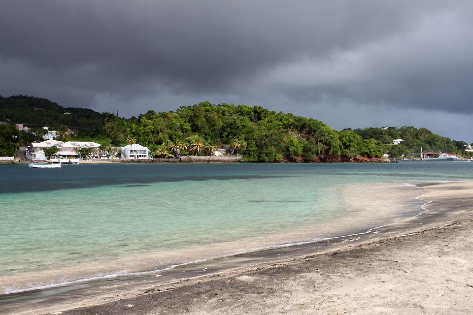 The Caribbean Coast , Young Island beach , Saint-Vincent and The Grenadines