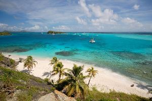 Mayreau and the Tobago Cays , A beach in the Tobago Cays , Saint-Vincent and The Grenadines