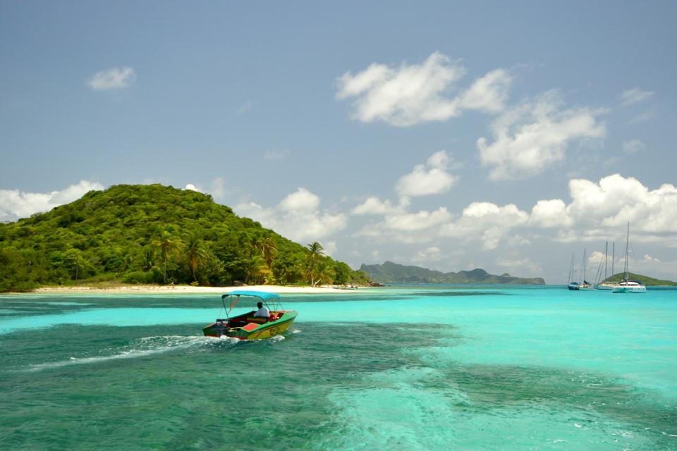 Mayreau und die Tobago Cays , Insel Mayreau / Grenadinen , St-Vincent und die Grenadinen