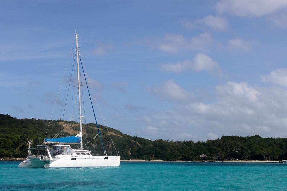 Segelkreuzfahrten , Katamaran auf den Grenadinen , St-Vincent und die Grenadinen