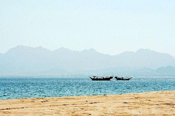 La costa di Sharjah , Dubai e gli Emirati