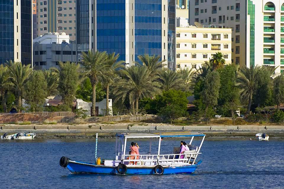 La côte de Sharjah , Sharjah et les émirats , Dubaï et les Emirats