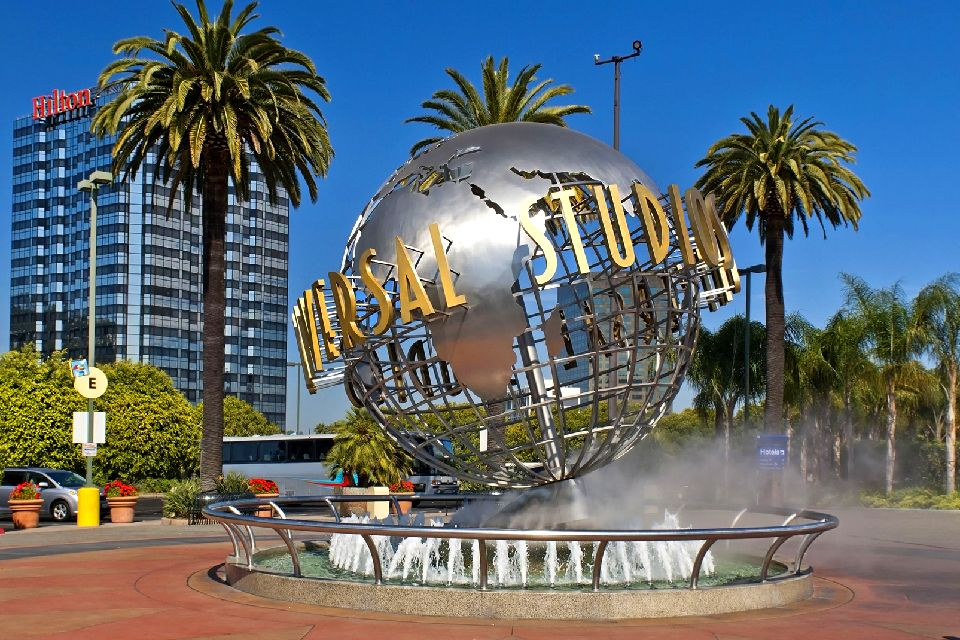 Universal Studios , Globe emblématique du parc Universal Studios , Etats-Unis