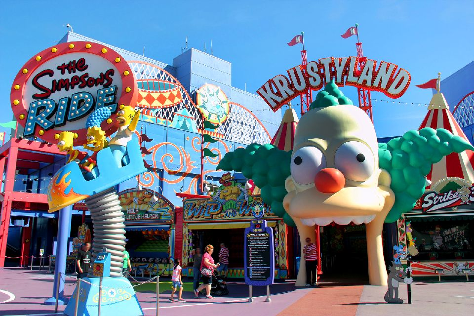 Universal Studios , The Simpsons Ride et Krustyland , Etats-Unis