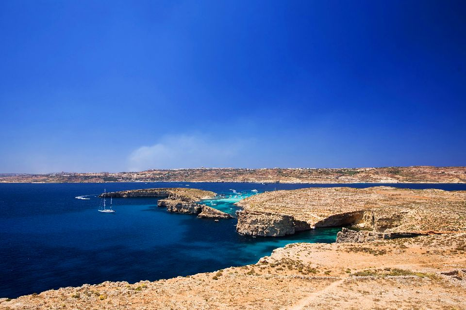 The Island of Comino , Comino Island , Malta