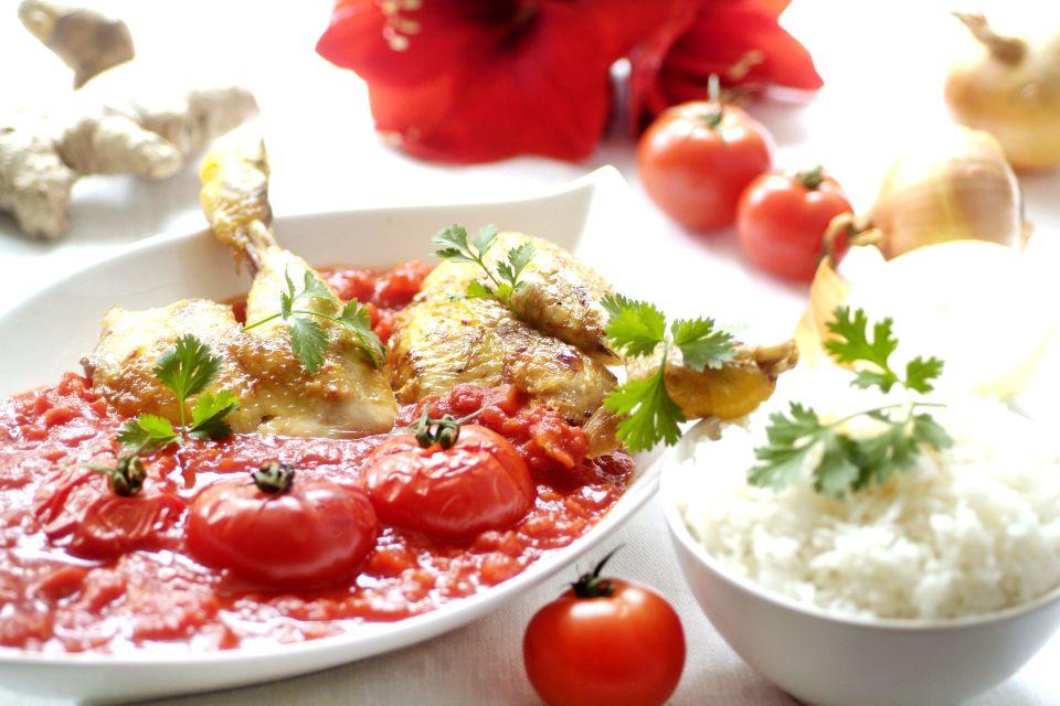 Les arts et la culture, cuisine, recette, gastronomie, maurice, afrique, île, océan indien, nourriture, alimentation, poulet, tomate, rougail