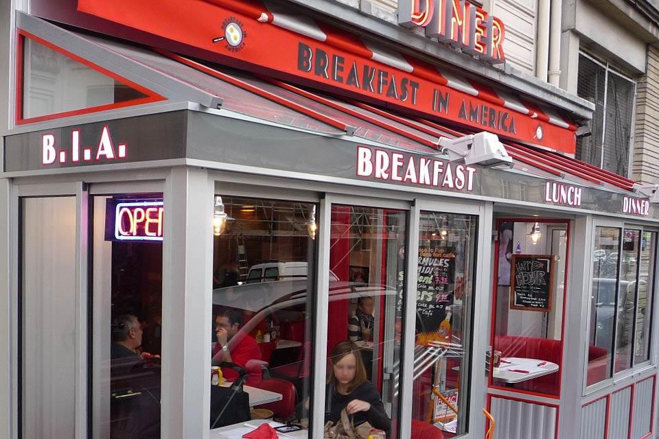 B.I.A. Breakfast in America , Gli orari dei diners , Francia