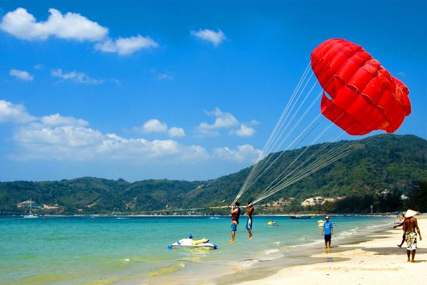 Parasailing in Phuket, Thailand, Sports, Activities and leisure, Thailand