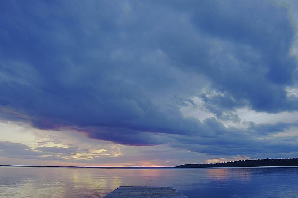 Manitoba Lakes , Manitoba Lakes at sunset, Canada , Canada