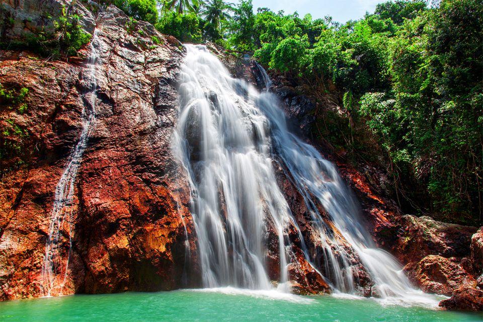 Nam Tok Na Muang, cascata, Koh Samui, Le rive, Thailandia