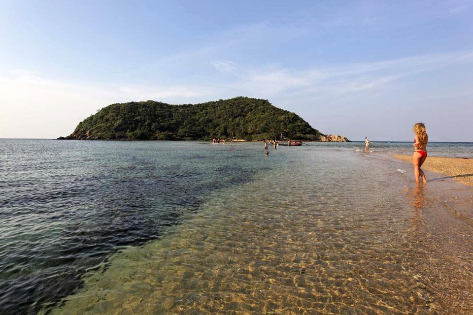 Koh Phangan , Spiaggia di Ao Mae Haad e Koh Ma , Thailandia