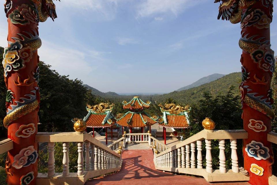 Koh Phangan , Il tempio cinese, Koh Phangan , Thailandia