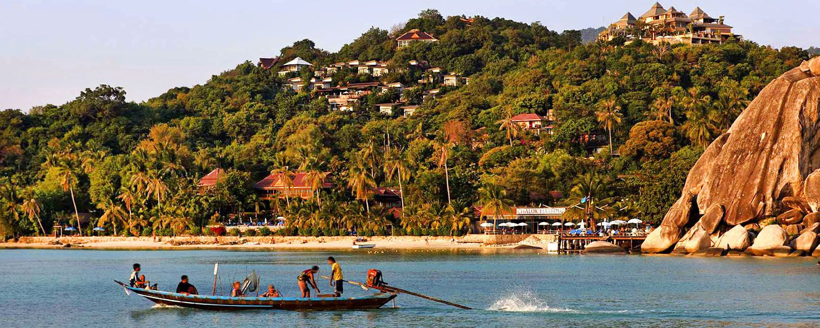 Boats in the village of Thong Sala, Koh Tao, Coasts, Thailand