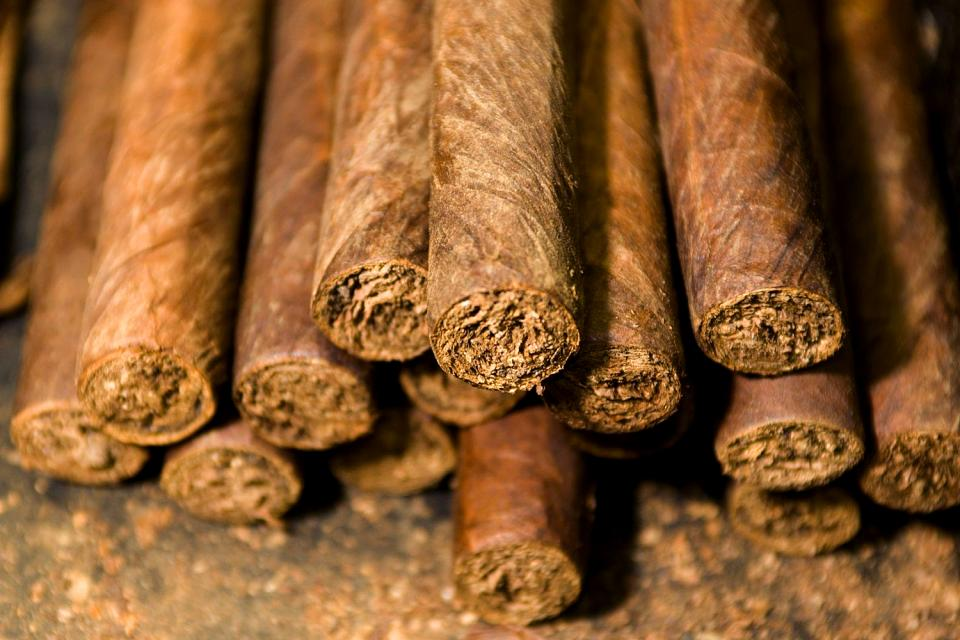 Cigars , A box of Dominican cigars , Dominican Republic
