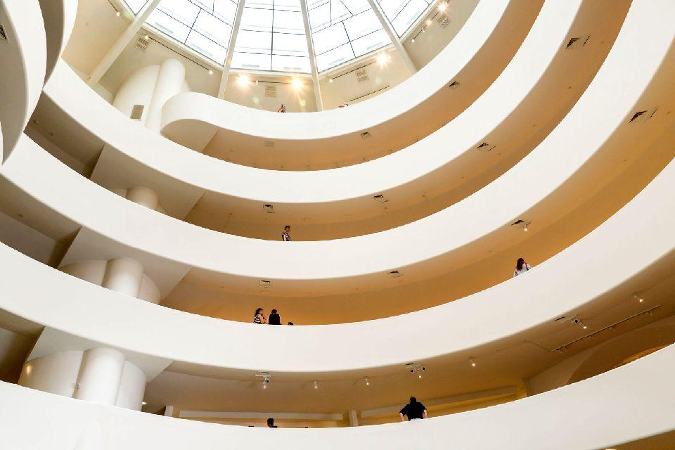 Le musée Solomon R.Guggenheim , A l'intérieur du musée , Etats-Unis