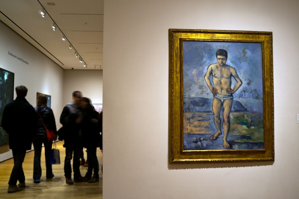 The Museum of Modern Art , A visitor photographs a painting, MoMA , United States of America