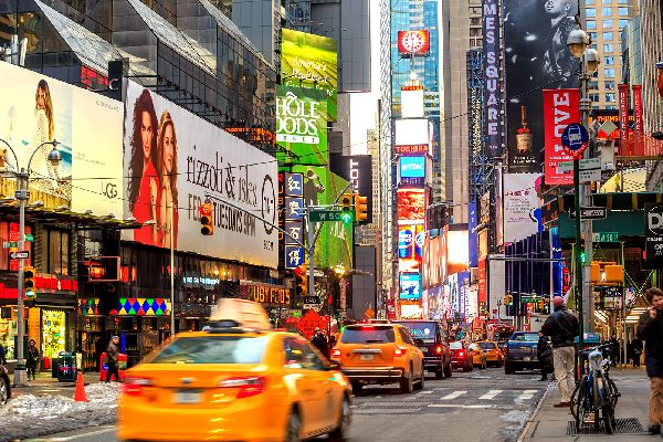Broadway , De nombreuses affiches de spectacle , Etats-Unis