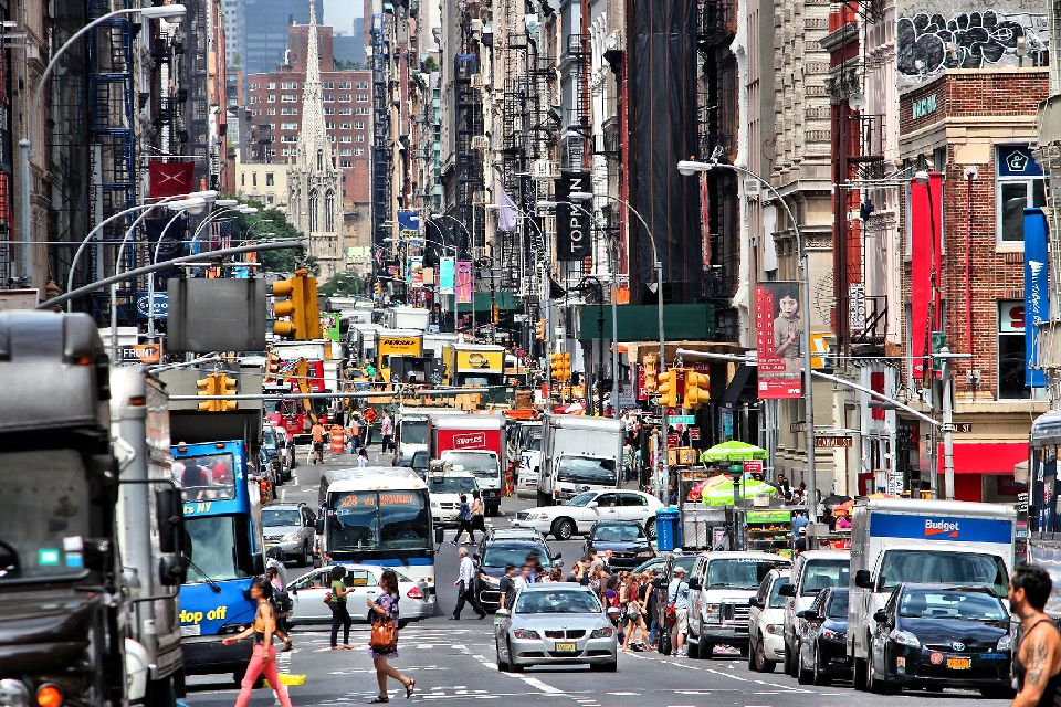 Broadway , Broadway at night, New York , United States of America