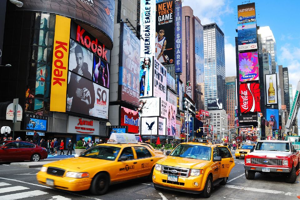 Broadway , New York taxis , United States of America