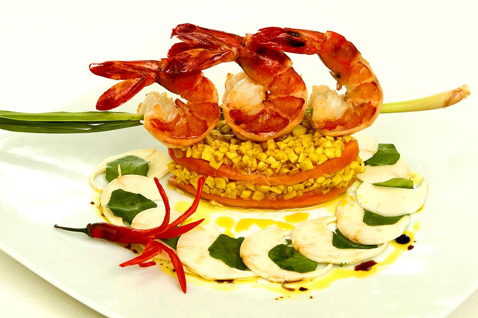 La gastronomía , La gamba de Coëtivy , Las Seychelles