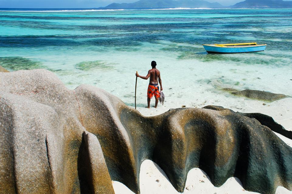 La pesca , Un punto famoso de pesca , Las Seychelles