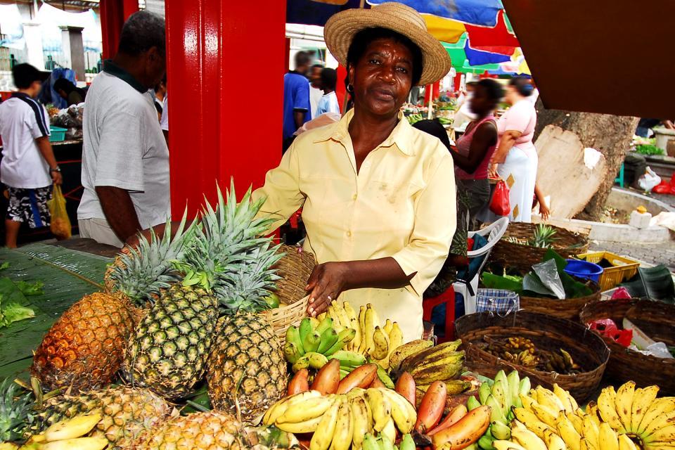 El mercado de Victoria , Las Seychelles
