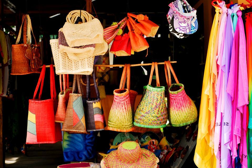El mercado de Victoria , Recuerdos de todo tipo , Las Seychelles