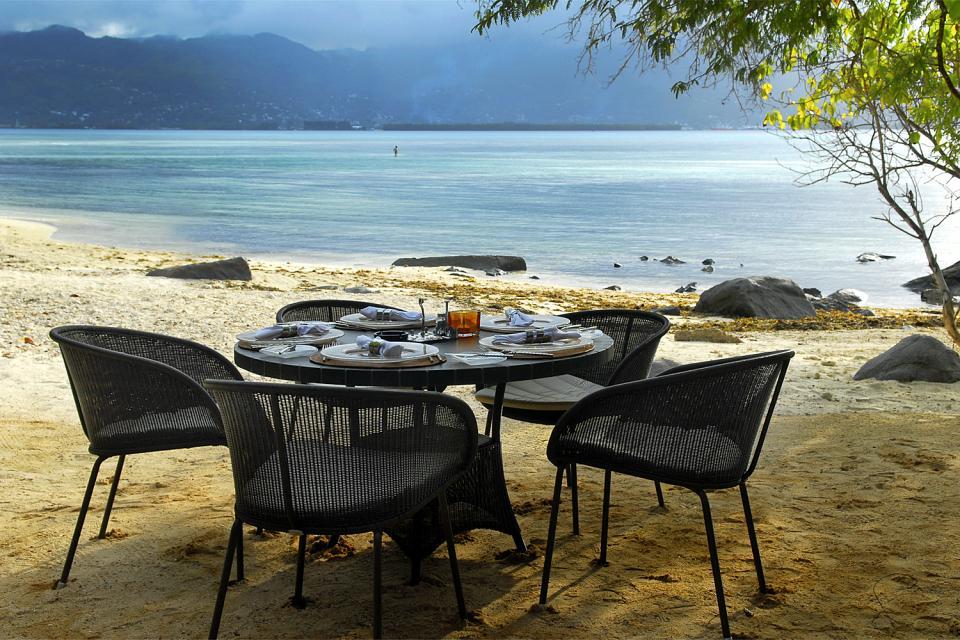 Sainte-Anne , Si può pranzare in spiaggia , Seychelles