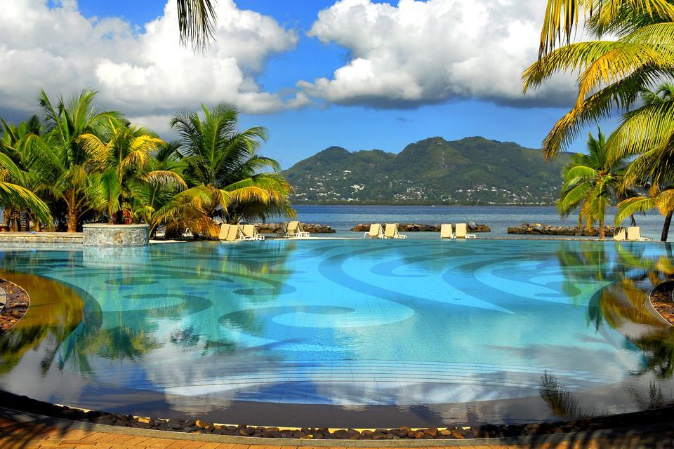 Sainte-Anne , Una splendida piscina di 800 m² , Seychelles