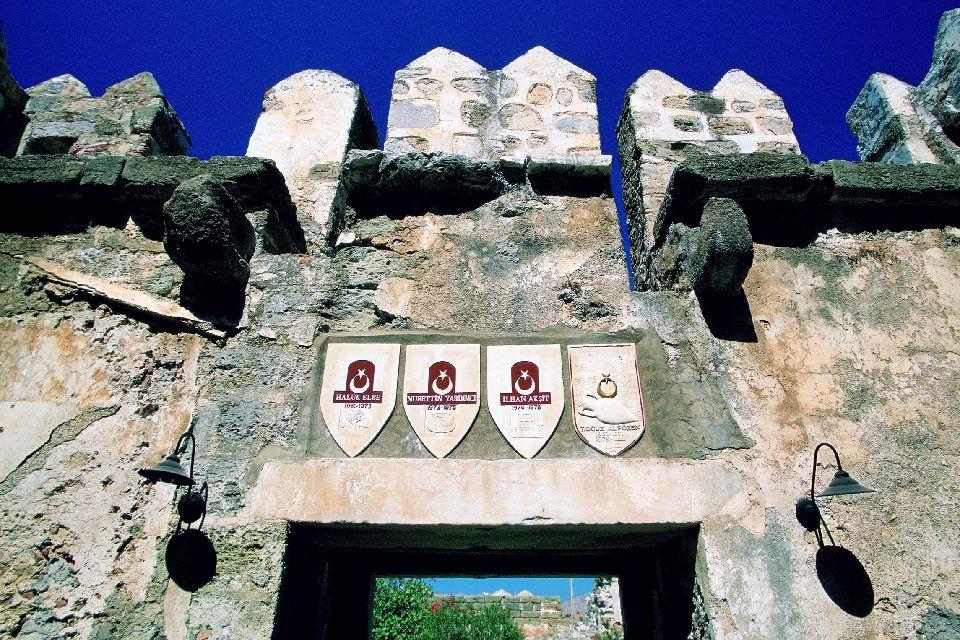 Le château Saint-Pierre à Bodrum , L'entrée du château , Turquie