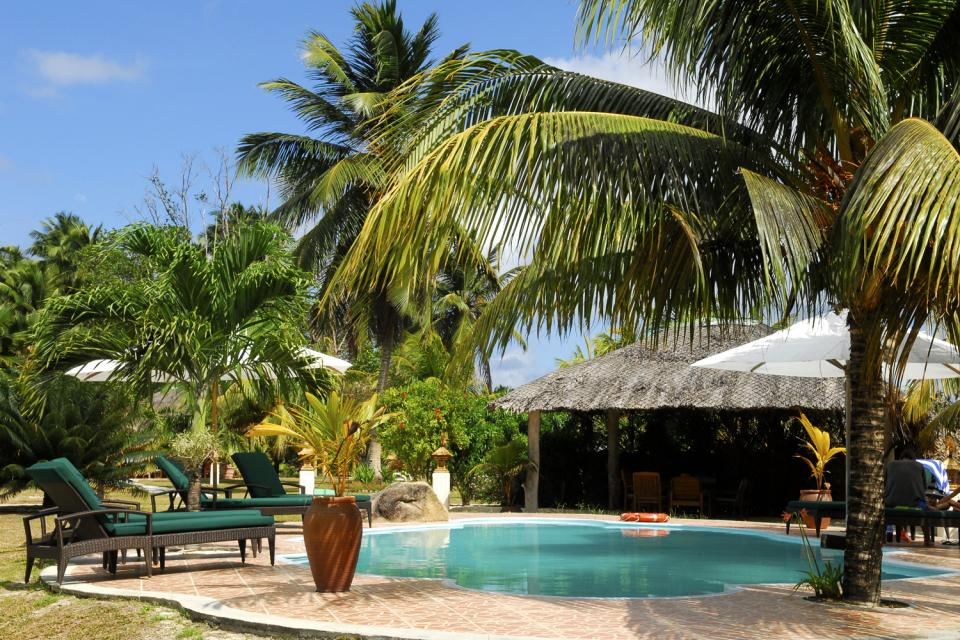 Cerf Island , La piscina del Cerf Island Marine Park Resort , Las Seychelles
