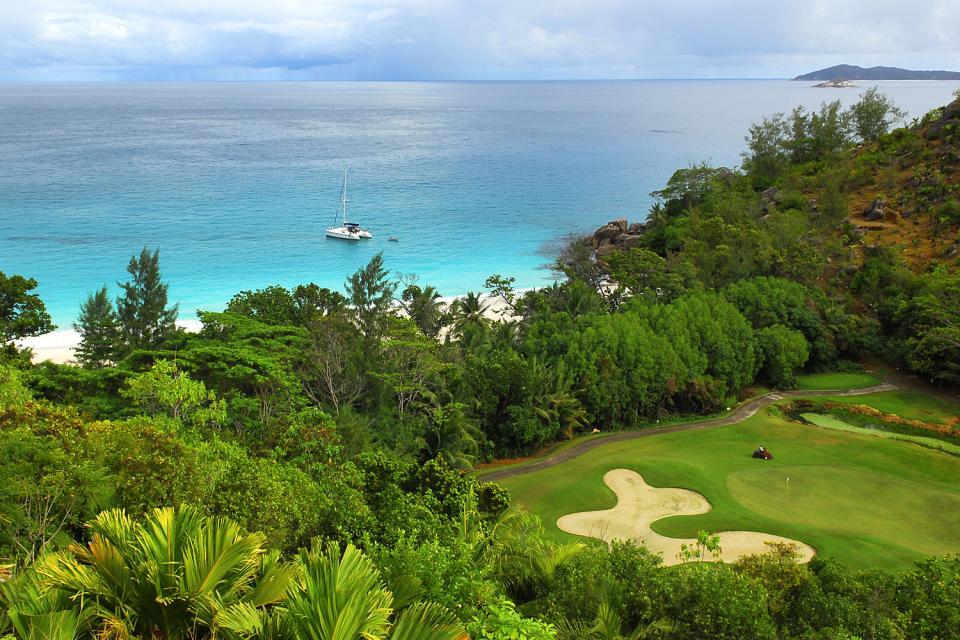 Golf , Campo de Golf del Lémuria Resort of Praslin , Las Seychelles