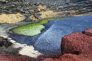 Lanzarote , La Lagune verte , Espagne