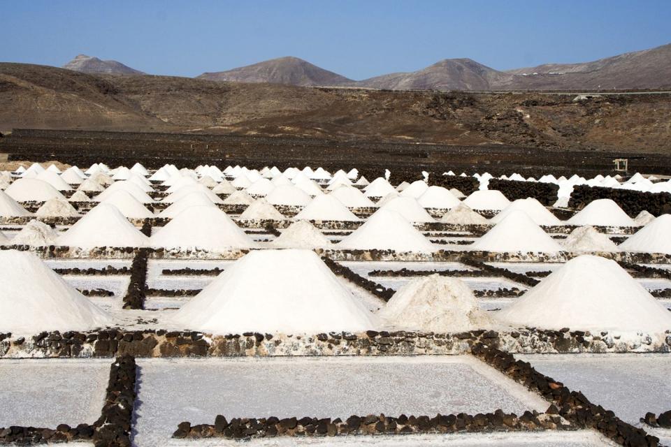 Lanzarote , Die Salinen , Die Salinen von Janubio , Spanien