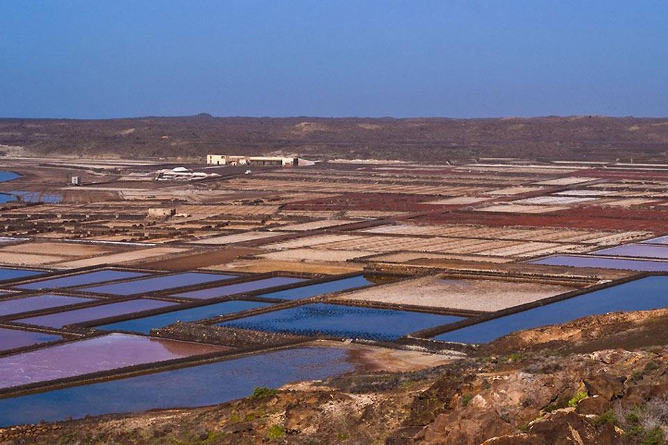 Lanzarote , Die Salinen , Ein Sonnenuntergang über den Salinen , Spanien