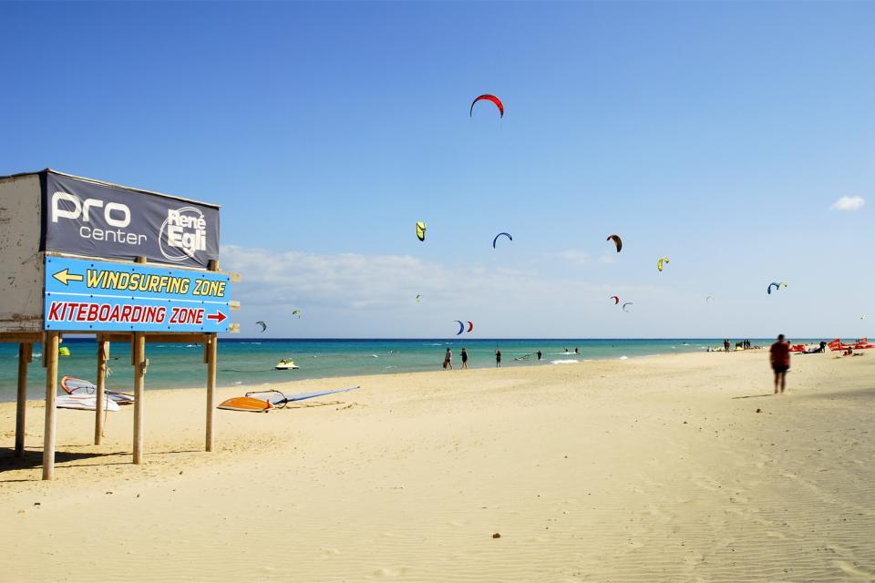 Le kitesurf , La plage de Jandia , Espagne