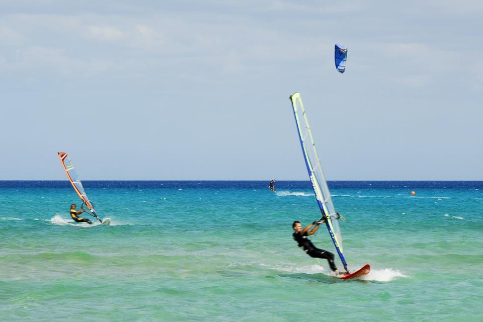 Le kitesurf , Des conditions idéales , Espagne
