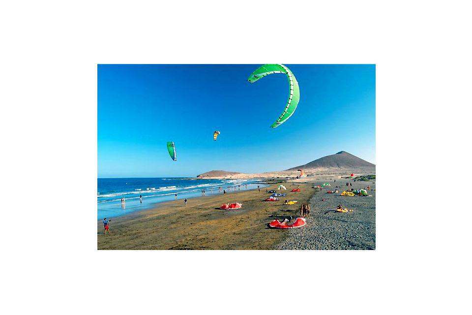 Le kitesurf , Un kitesurfer , Espagne