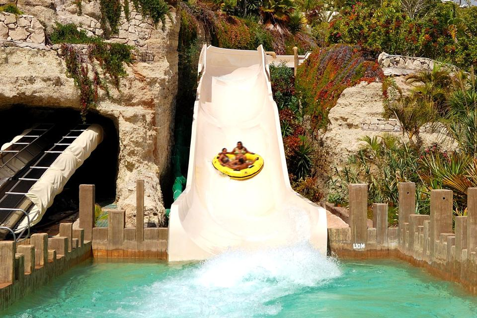 Siam park , A surfing school , Spain